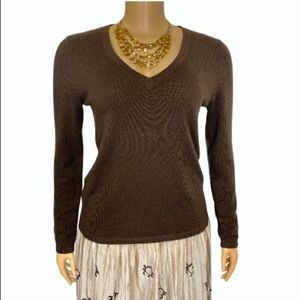 Olivia & grace cashmere Sweater V Neck Brown small